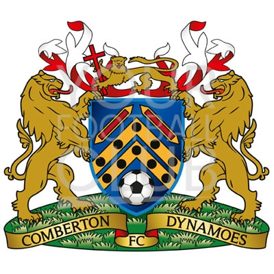 Bespoke Football Badge Design Comberton Dynamoes FC