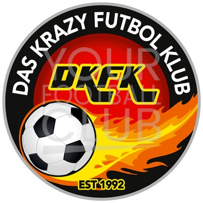 Bespoke Football Badge Design Das Krazy Futbol Klub