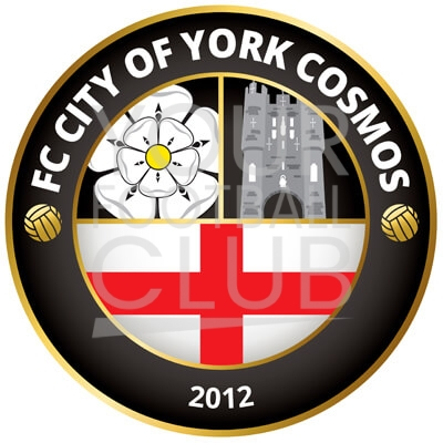 Bespoke Football Badge Design FC City of York Cosmos