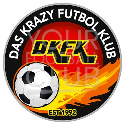 football badge design, football logo design for das krazy