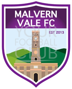Football badge creator for malvern vale FC , design a football badge for malvern vale FC