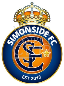 design a football badge for simonside fc