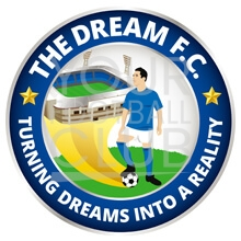 design a football badge-Bespoke_Football_Badge_Logo_Design_The_Dream_FC_Badge