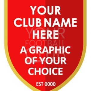 football badge creator - FB006C Red Gold Choose your graphic