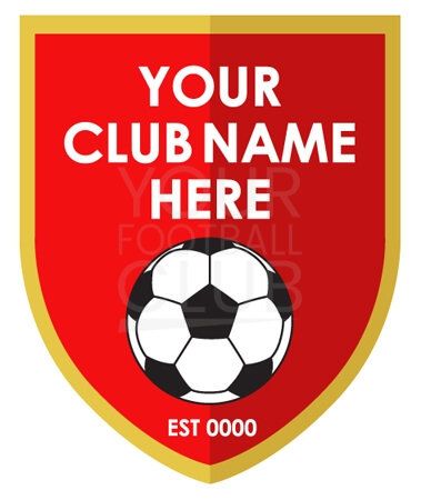 Football club Logo Design Badge FB006 Red Gold 5
