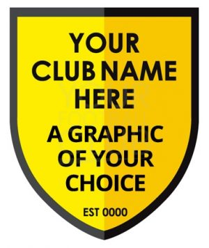 design a football badge with your name and club name and graphic