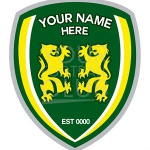 design a football badge,insert your name here