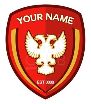 instant football club logo design, put in your name