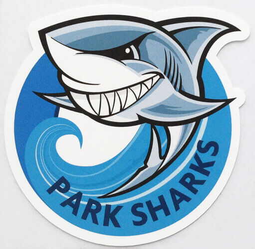 Park sharks football Iron on Transfers