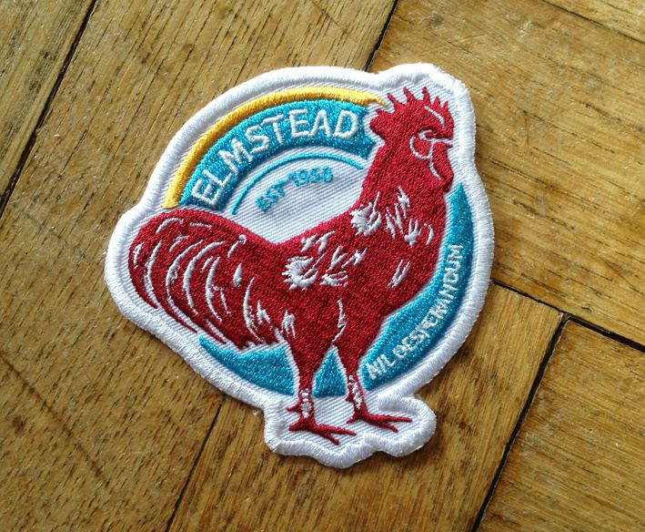 Elmstead fc embroidered football badge