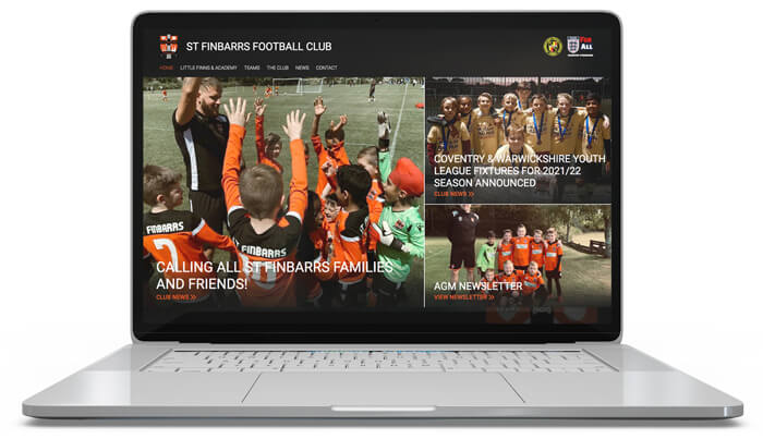 St Finbarrs Football Club Website Design